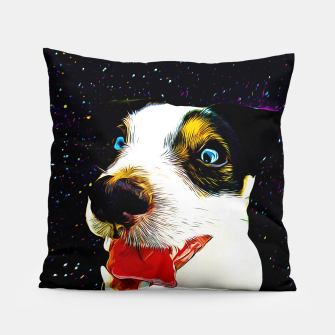 jack russell terrier dog space crazy va Pillow thumbnail image