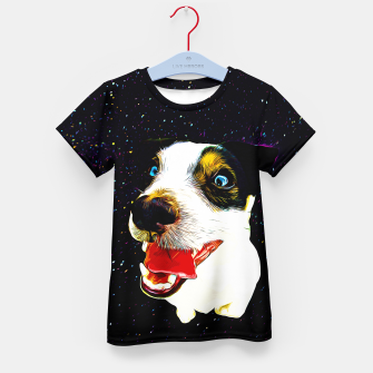 Thumbnail image of jack russell terrier dog space crazy va Kid's t-shirt, Live Heroes