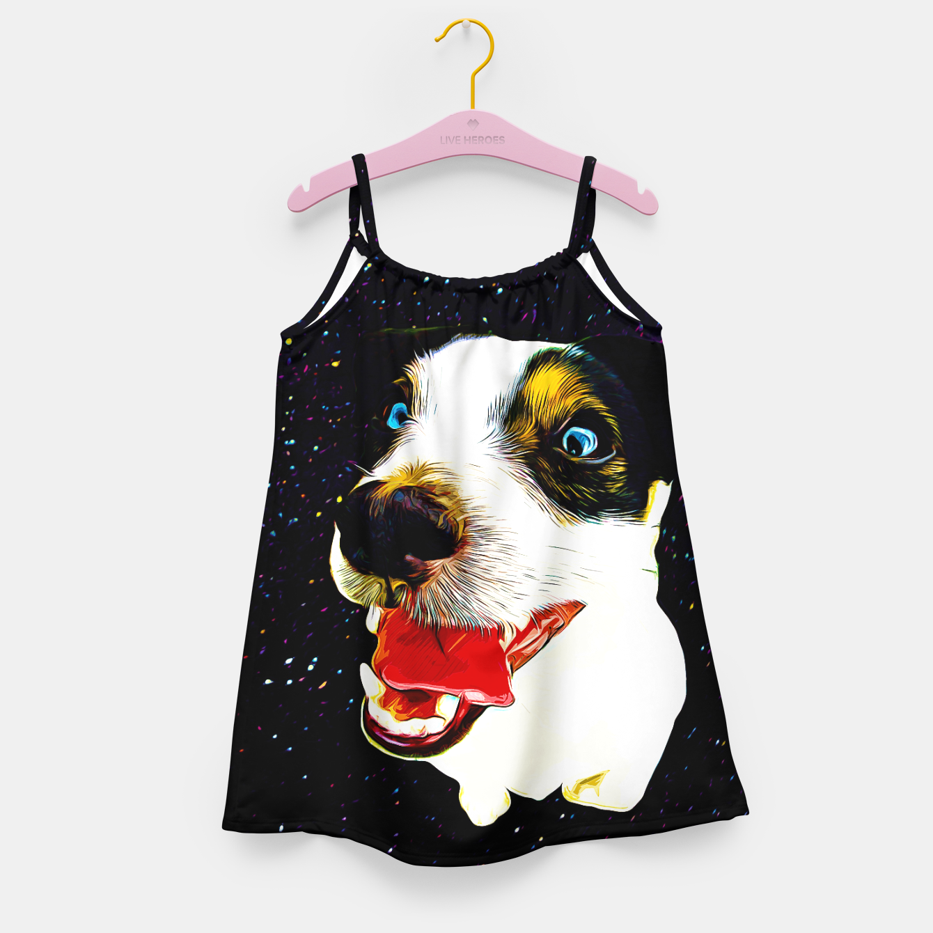 Image of jack russell terrier dog space crazy va Girl's dress - Live Heroes