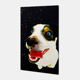 jack russell terrier dog space crazy va Canvas thumbnail image