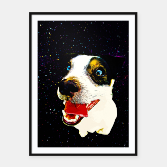 jack russell terrier dog space crazy va Framed poster thumbnail image