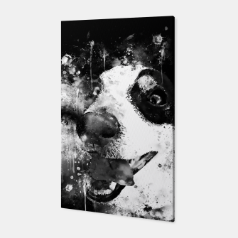 Thumbnail image of jack russell terrier dog crazy eyes ws bw Canvas, Live Heroes