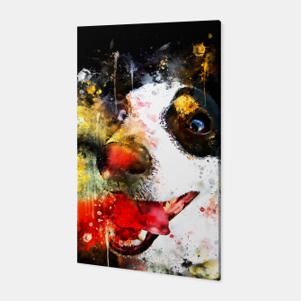 Thumbnail image of jack russell terrier dog crazy eyes ws Canvas, Live Heroes