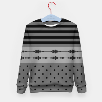 Thumbnail image of Polka Dots And Stripes Pattern  Kid's sweater, Live Heroes