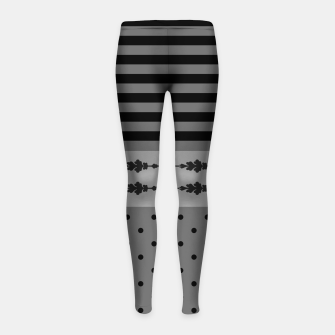 Thumbnail image of Polka Dots And Stripes Pattern  Girl's leggings, Live Heroes