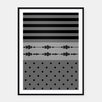 Thumbnail image of Polka Dots And Stripes Pattern  Framed poster, Live Heroes