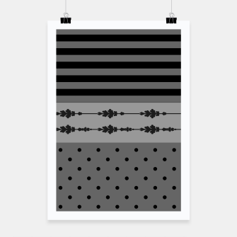 Thumbnail image of Polka Dots And Stripes Pattern  Poster, Live Heroes