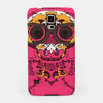 Miniature de image de funny skull and bone graffiti drawing in orange brown and pink Samsung Case, Live Heroes