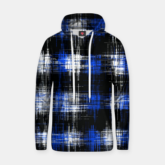 Imagen en miniatura de plaid pattern painting texture abstract in blue and black Hoodie, Live Heroes