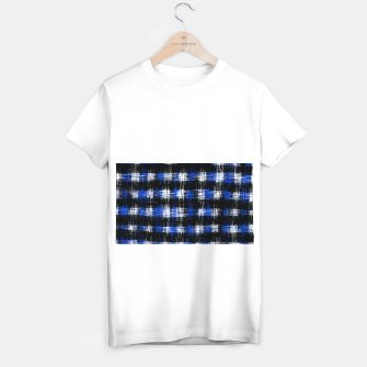 Imagen en miniatura de plaid pattern painting texture abstract in blue and black T-shirt regular, Live Heroes