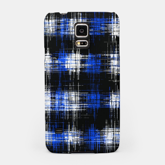 Imagen en miniatura de plaid pattern painting texture abstract in blue and black Samsung Case, Live Heroes