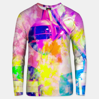 Miniaturka Ferris wheel and modern building at Las Vegas, USA with colorful painting abstract background Unisex sweater, Live Heroes