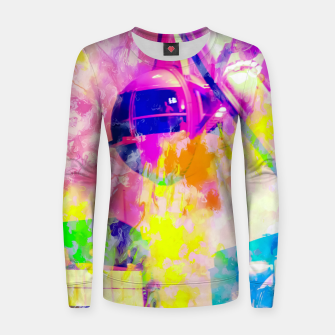 Miniaturka Ferris wheel and modern building at Las Vegas, USA with colorful painting abstract background Women sweater, Live Heroes