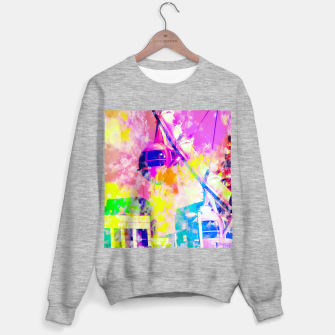 Miniaturka Ferris wheel and modern building at Las Vegas, USA with colorful painting abstract background Sweater regular, Live Heroes