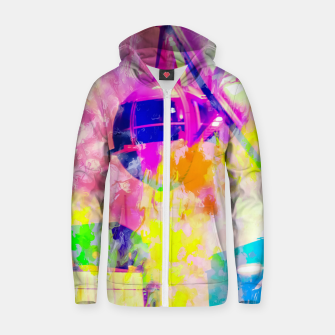 Miniaturka Ferris wheel and modern building at Las Vegas, USA with colorful painting abstract background Zip up hoodie, Live Heroes