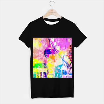 Miniaturka Ferris wheel and modern building at Las Vegas, USA with colorful painting abstract background T-shirt regular, Live Heroes
