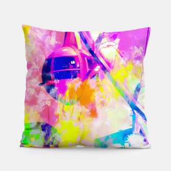 Miniaturka Ferris wheel and modern building at Las Vegas, USA with colorful painting abstract background Pillow, Live Heroes