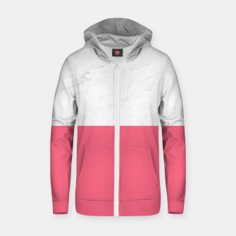 Marble vs Pink  Zip up hoodie thumbnail image