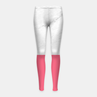 Marble vs Pink  Girl's leggings thumbnail image