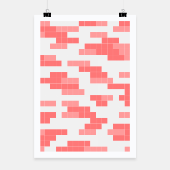 Thumbnail image of Pixel Coral Pattern Poster, Live Heroes