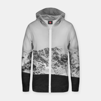 Thumbnail image of Snowy Mountain Zip up hoodie, Live Heroes