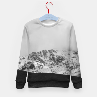 Thumbnail image of Snowy Mountain Kid's sweater, Live Heroes