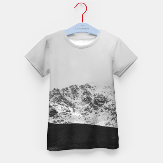 Thumbnail image of Snowy Mountain Kid's t-shirt, Live Heroes