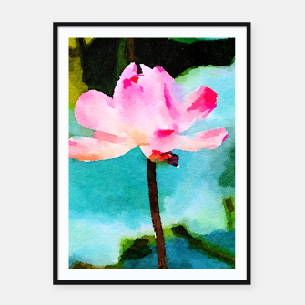 Thumbnail image of Lotus Framed poster, Live Heroes