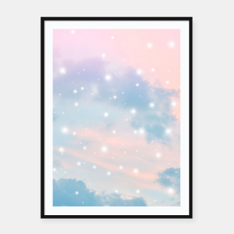 Thumbnail image of Pastel Cosmos Dream #2 #decor #art  Plakat mit rahmen, Live Heroes