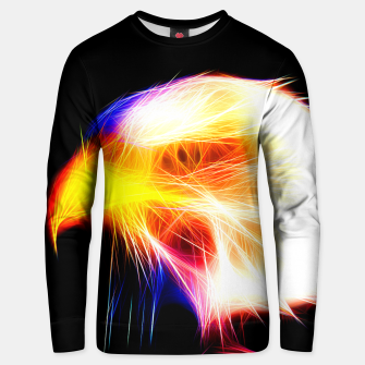 Thumbnail image of bald eagle 03 neon lines bright Unisex sweater, Live Heroes