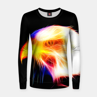 Thumbnail image of bald eagle 03 neon lines bright Women sweater, Live Heroes