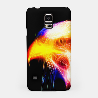 Thumbnail image of bald eagle 03 neon lines bright Samsung Case, Live Heroes