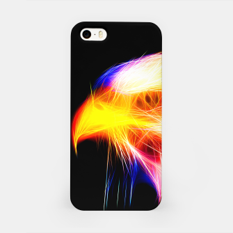 Thumbnail image of bald eagle 03 neon lines bright iPhone Case, Live Heroes