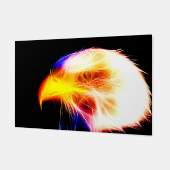 Thumbnail image of bald eagle 03 neon lines bright Canvas, Live Heroes