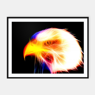 Thumbnail image of bald eagle 03 neon lines bright Framed poster, Live Heroes