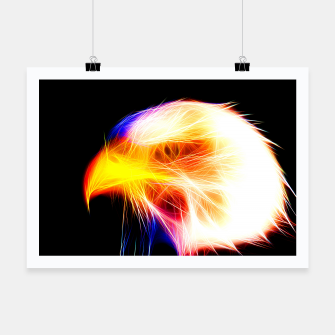 Thumbnail image of bald eagle 03 neon lines bright Poster, Live Heroes
