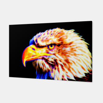 Thumbnail image of bald eagle 03 neon lines crystal Canvas, Live Heroes