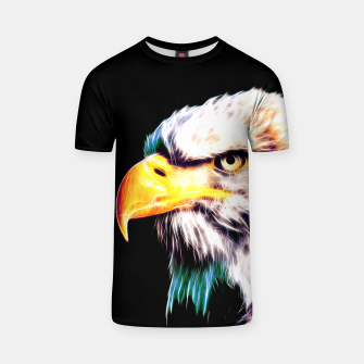 Thumbnail image of bald eagle 03 neon lines extraordinary T-shirt, Live Heroes