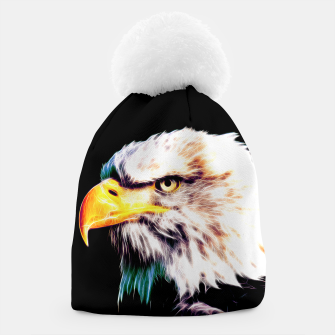 Thumbnail image of bald eagle 03 neon lines extraordinary Beanie, Live Heroes