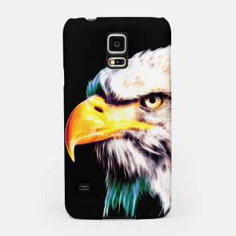 Thumbnail image of bald eagle 03 neon lines extraordinary Samsung Case, Live Heroes
