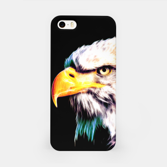 Thumbnail image of bald eagle 03 neon lines extraordinary iPhone Case, Live Heroes