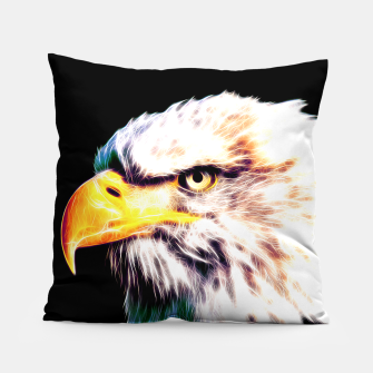 Thumbnail image of bald eagle 03 neon lines extraordinary Pillow, Live Heroes