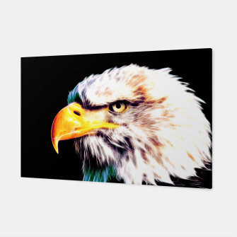 Thumbnail image of bald eagle 03 neon lines extraordinary Canvas, Live Heroes