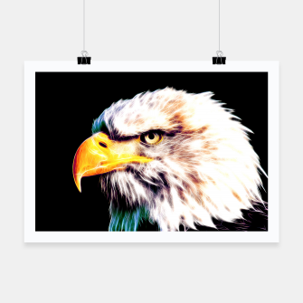 Thumbnail image of bald eagle 03 neon lines extraordinary Poster, Live Heroes
