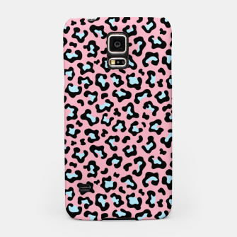 Leopard fur texture pattern: pink and blue background. Samsung Case thumbnail image