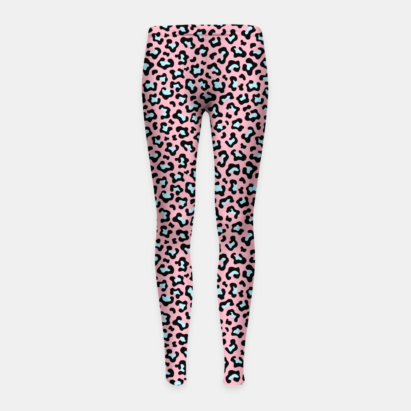 Image of Leopard fur texture pattern: pink and blue background. Girl's leggings - Live Heroes