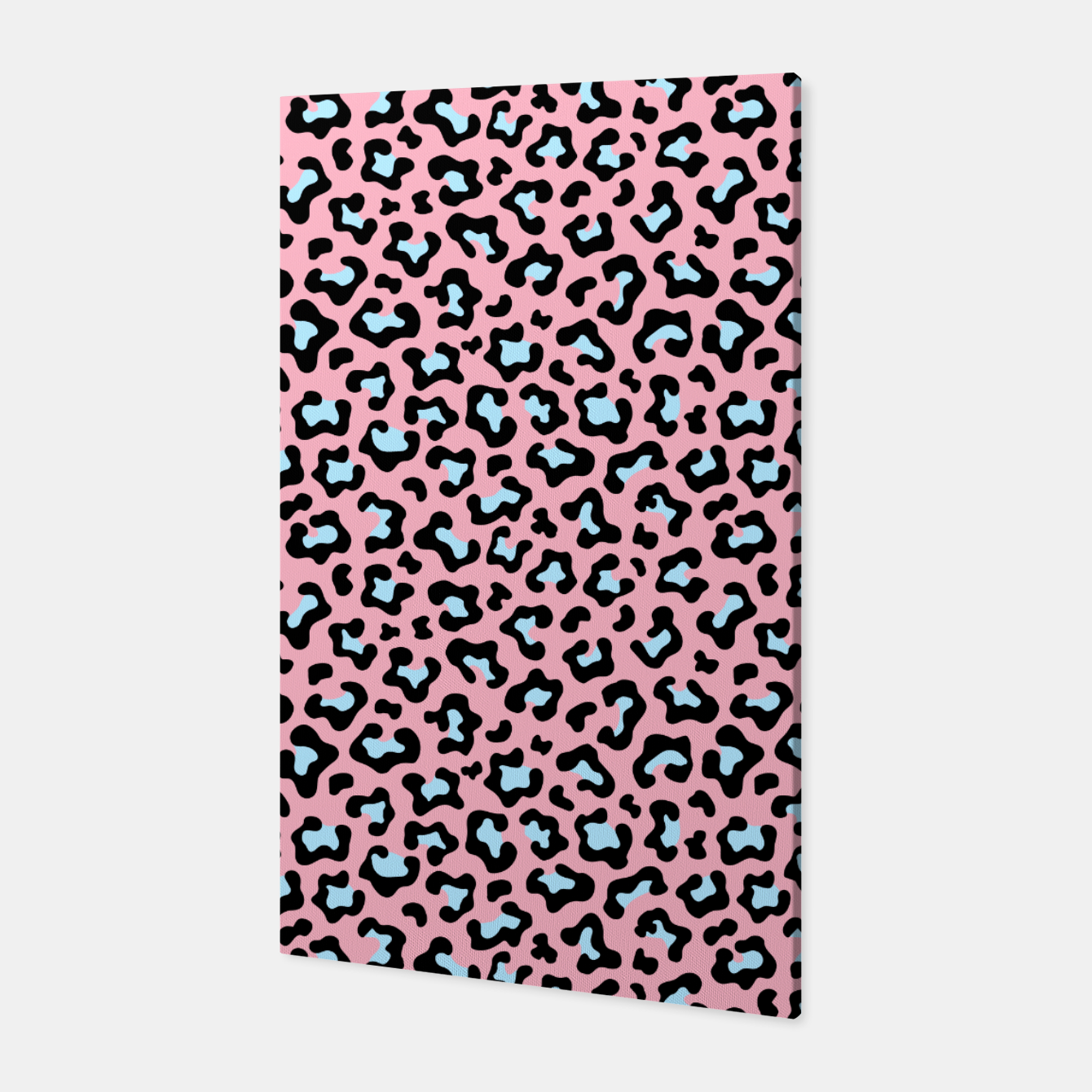Image of Leopard fur texture pattern: pink and blue background. Canvas - Live Heroes