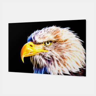 Thumbnail image of bald eagle 03 neon lines stardust Canvas, Live Heroes