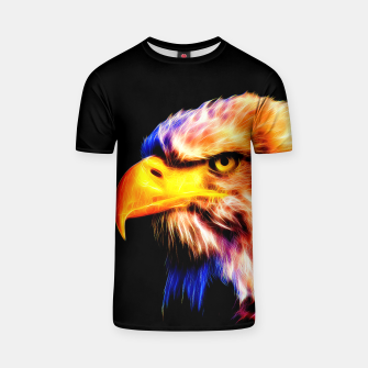 Thumbnail image of bald eagle 03 neon lines meteor T-shirt, Live Heroes