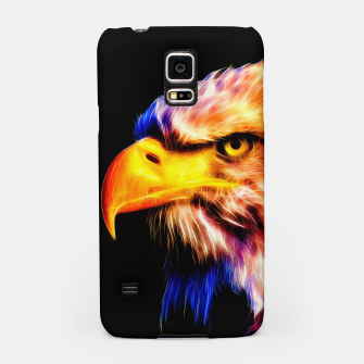 Thumbnail image of bald eagle 03 neon lines meteor Samsung Case, Live Heroes